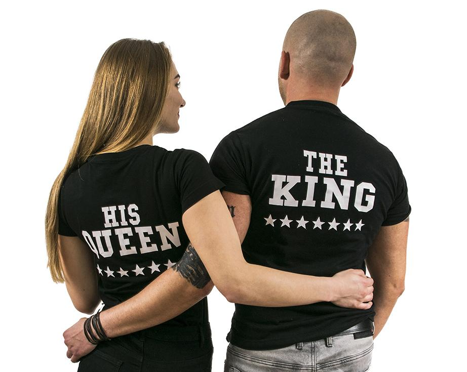 dc23a1895cca King and Queen tričká
