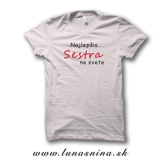 9e0a63367f40 Najlepšia sestra tričko