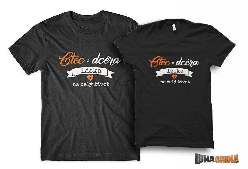 Otec a dcéra láska na celý život tričká ae9e114404